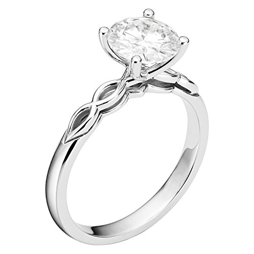 Forever Brilliant Round Cut 7.5mm Moissanite Engagement Ring-size 9,1.50ct DEW By Charles & Colvard by Charles & Colvard (Image #1)