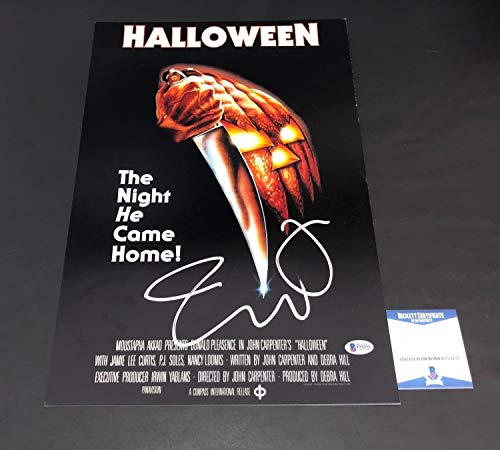 Halloween Jamie Lee Curtis Autographed Signed 12X18 Photo Authentic Autograph - Beckett Authentic