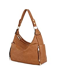 UTO Women Handbag PU Leather Front Zipper Purse Hobo Style Shoulder Bag