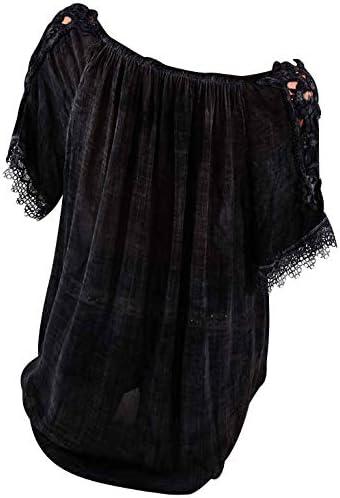 Damska bluzka z dekoltem w kształcie litery V, z krÓtkim rękawem, na lato, luźna bluzka na lato: Odzież
