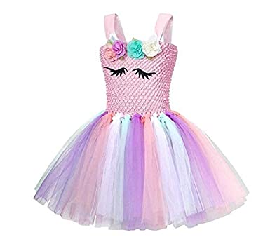 65f359c2bde7 3-10 Y Fancy Kids Unicorn Tulle Dress for Girls Embroidery Ball Gown Baby Flower  Girl Princess Dresses Wedding Party Costumes