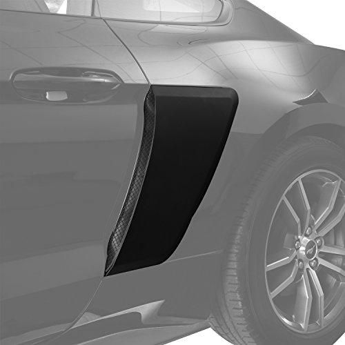 u-Box Unpaited Rear Hood Fender Side Door Scoops Guard PP for 2015 2016 2017 2018 Ford Mustang ()