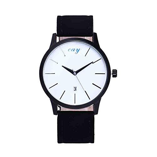 Women Quartz Watches VANSOON Unisex Leisure Time Faux Leather Analog Simple Clock Dial Wrist Watch Digital Watch Analog Classic Bracelet Watches Teen Girls Dress Watches