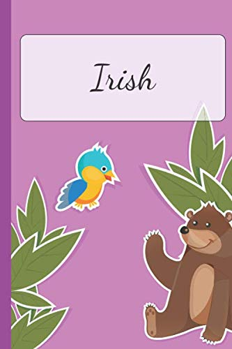Irish: Personalized Name Notebook for Girls | Custemized 110 Dot Grid Pages | Custom Journal as a Gift for your Daughter or Wife |School or Christmas or Birthday Present | Cute Diary (Irish Stamps Christmas)