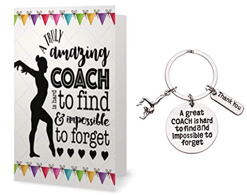 Infinity Collection Gymnastics Coach Keychain & Card Set- Gymnastics Coach Gift- Live Love Gymnastics Jewelry for Coaches