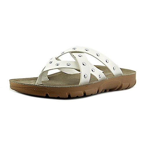 Cliffs by White Mountain Womens Bailout Thong Sandal White Burnished Smooth Synthetic pqVjLv0zE
