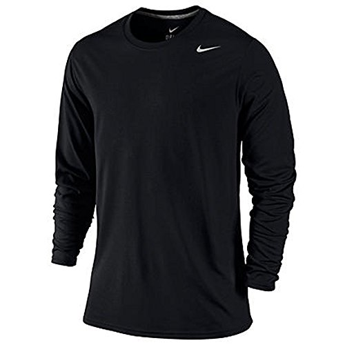 Camiseta De Manga Larga Nike Hombres Legend Black / Carbon Heather / Plata Mate