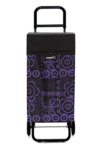 Garmol G2Love C677Einkaufstrolley, 2Rollen, Stoff, Violett, 39x 30x 102cm