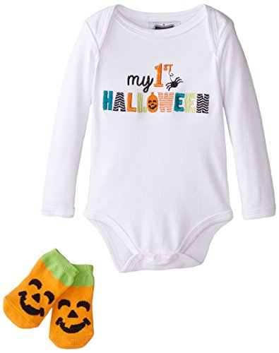 Mud Pie Baby Unisex Seasonal Crawler,  White,  0-6 Months (Halloween Mud Pie Clothes)