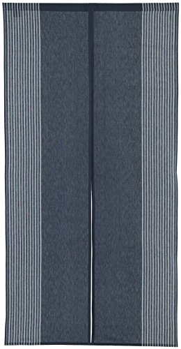 Vertical Stripe Navy Blue Cotton Cloth Japanese Noren Curtain Tapestry]()