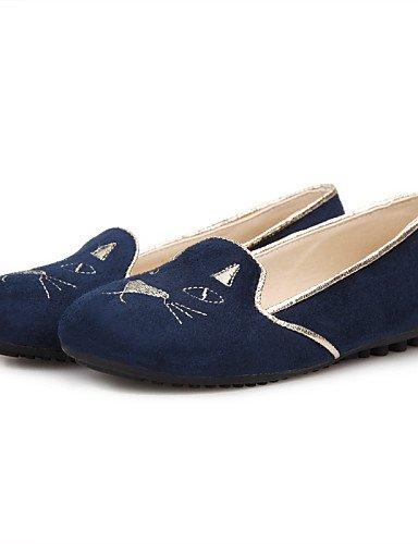 ShangYi Sandaletten für Damen Damenschuhe-Sandalen-Lässig-Vlies-Niedriger Absatz-Komfort-Schwarz / Blau / Rot , black-us7.5 / eu38 / uk5.5 / cn38 , black-us7.5 / eu38 / uk5.5 / cn38