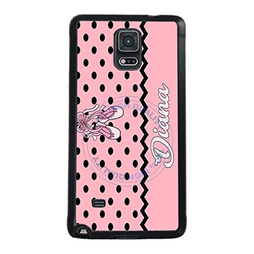 BRGiftShop Personalized Custom Polka Dot Pattern Dance Ballerina Ballet Shoes Rubber Phone Case For Samsung Galaxy Note IV -