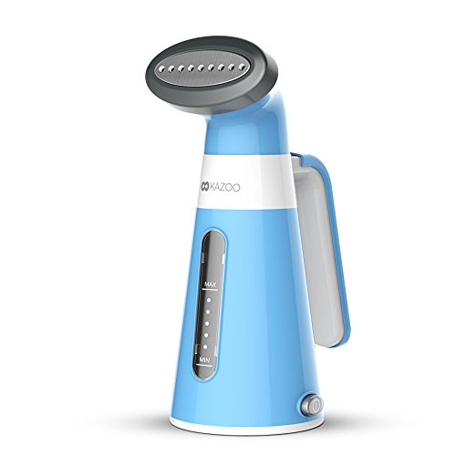 Kazoo Travel Steamer For Clothes - Portable Garment Steamer Stainless Steel Steam Head Fabric Clothes Steamer Handheld for Home and Travel, 6.6ft Cord, Fur Brush Included by Kazoo