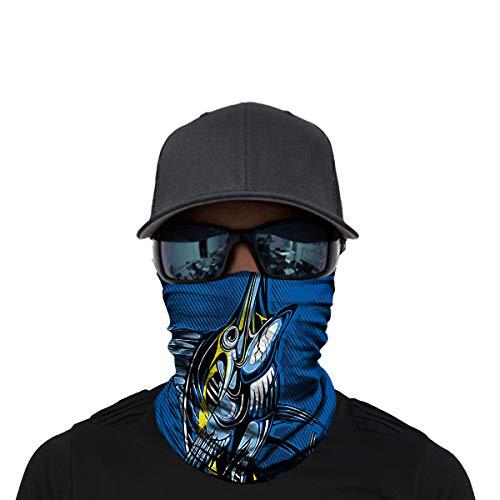 OUYZY Neck Gaiter, Headwear, Face Sun Mask, Magic Scarf, Bandana, Balaclava, Headband for Cycling, Fishing, Motorcycling, Running, Skateboarding, Moisture Wicking UV Protection (D-HR040363)