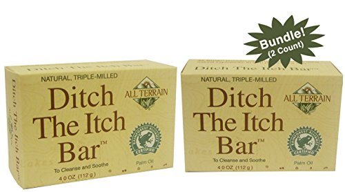 - All Terrain Natural Ditch The Itch Bar Soap 2 Count, Bundle, Temporarily Helps Relieve Minor Skin Irritations & Itching, Helps with Poison Ivy, Insect Bites, Rashes, Soothe Itchy, Irritated Skin