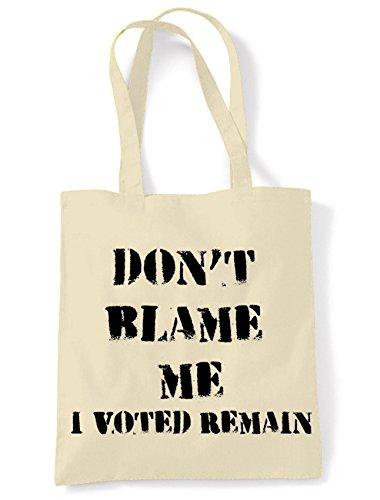 Referendum Shoulder Remain I Bag Me Shopping Don't EU Brexit Cream Voted Blame nqCHYf