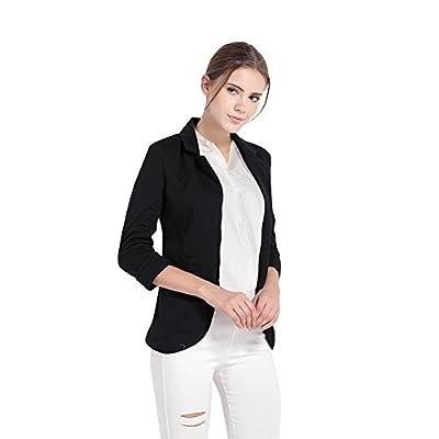 HAOYIHUI Women's Casual Work Office Open Front Cardigan Blazer Jacket