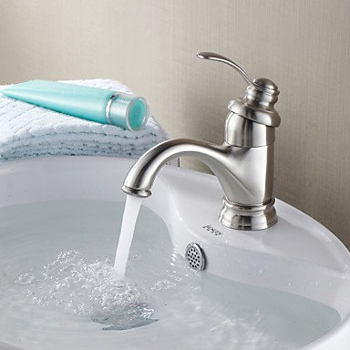 Y&M Faucet£¬ Centerset ceramic valves nickel brushed with contemporary bathroom sink faucets single hole