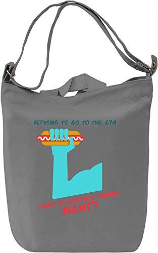 Resistance training Borsa Giornaliera Canvas Canvas Day Bag| 100% Premium Cotton Canvas| DTG Printing|