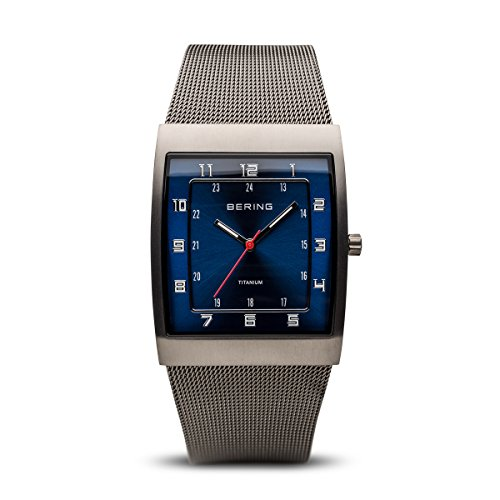BERING Time 11233-078 Mens Classic Collection Watch with Mesh Band and Super Hardened Mineral Glass. Designed in Denmark.