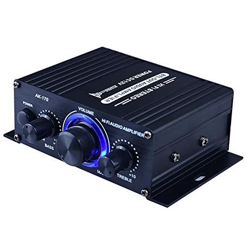 Versterker Thuis Audio Systeem DC12V Bluetooth HiFi Muziek Ontvanger Dual Channel Geluid Stereo Ontvanger Doos w/LED…