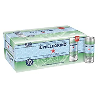 S.Pellegrino Sparkling Natural Mineral Water, 11.15 Fl Oz Cans, Pack of 24