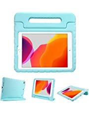 """ProCase Kids Case for iPad 10.2 inch 9th 2021/ 8th 2020/ 7th 2019/ iPad Air 10.5"""" 2019/ iPad Pro 10.5, Shockproof Convertible Handle Stand Cover Light Weight Kids Friendly Case for iPad 9/8/7 -Aqua"""