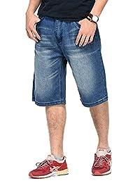 pit4tk Mens Twill Denim Casual Shorts Jeans