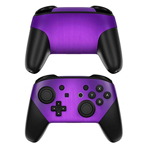 (Purple Burst Decalgirl Skin Sticker Wrap Compatible with Nintendo Switch Pro Controller)