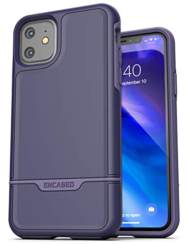 Encased Heavy Duty iPhone 11 Protective Case Purple (2019 Rebel Armor) Military Grade Full Body Rugged Cover