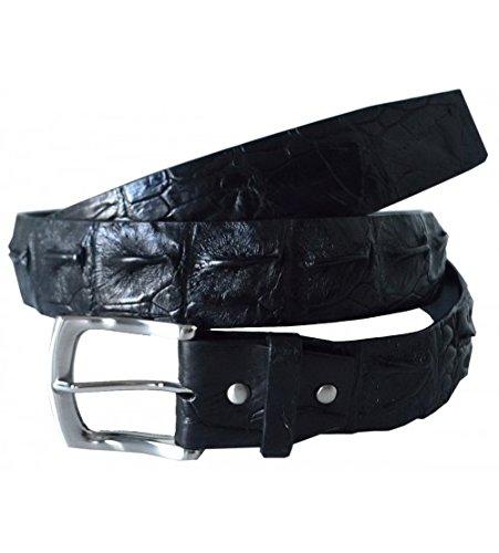 Authentic River Crocodile Skin Men's Big Hornback Pin Belt 34