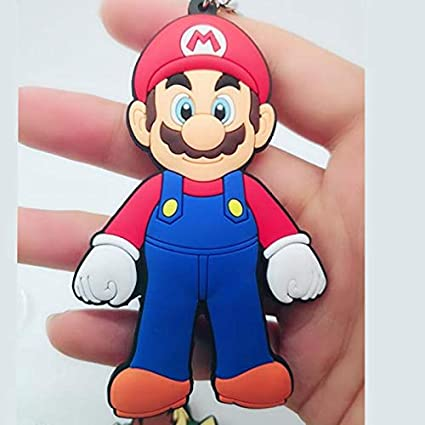 Amazon.com: Key Chains - Game Super Mario Bros PVC Key Chain ...