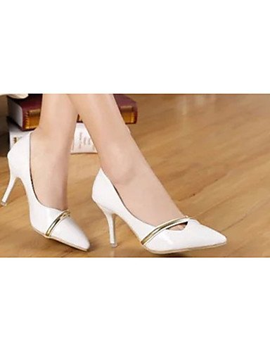 red cn39 white cn39 us8 Rojo us8 Blanco mujer eu36 uk6 Tacones eu39 uk4 cn36 Zapatos PU Tacones eu39 ZQ red uk6 Casual Tac¨®n Stiletto de us6 1RAPqPw
