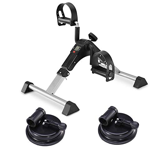 MOMODA Foot Pedal Exerciser Mini Exercise Bike with Suckers Non-Slip(Black/Gray) by MOMODA (Image #1)