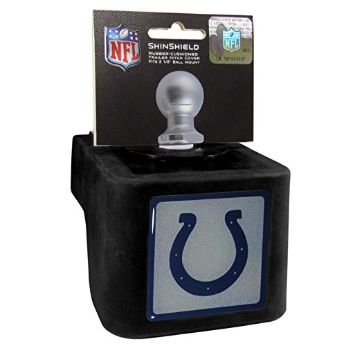 NFL Indianapolis Colts Shin Shield Class V Hitch Cover, Black