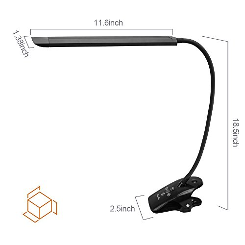Kedsum Dimmable Led Desk Clamp Lamp 5 Lighting Modes 5