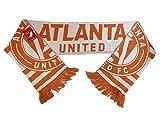 adidas Atlanta United FC White & Orange MLS Acrylic Knit Scarf with Tassles