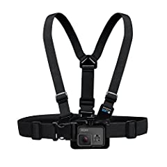 "Chest Harness for your quick-release HERO camera. Makes it easy to capture immersive video and photo footage from, well your chest. Perfect for skiing, mountain biking, motocross, paddle sports, or any activity where you want to get a ""lower ..."