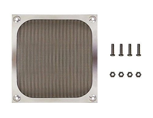 120mm 12cm Aluminum Mesh Fan Filter Finger Guard Grill, Silver Color, with Screws & Nuts