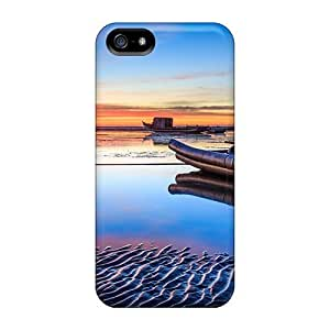 Awesome Super Stylish Defender Tpu Hard Case Cover For Iphone 5/5s- Pontoon Boats On The Beach At Sunset