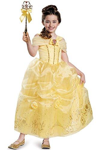 Belle Prestige Disney Princess Beauty & The Beast Costume, X-Small/3T-4T