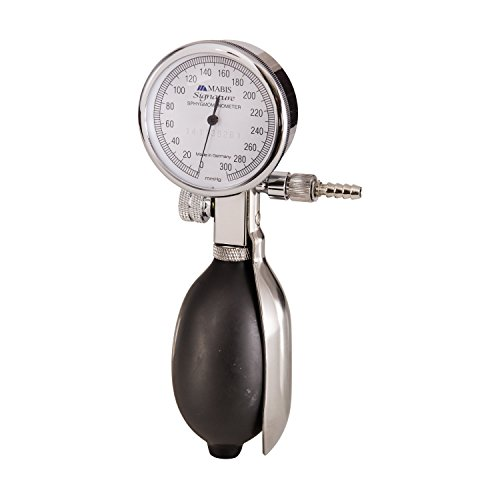 MABIS Signature Series Palm Aneroid Manometer, Chrome by Mabis