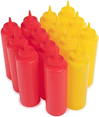 Amazon.com: Ketchup and Mustard Squeeze Bottle Value Combo ...