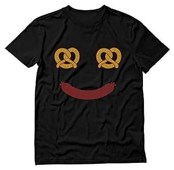 Tstars - Oktoberfest Costume Food Face Funny Halloween T-Shirt Small Black