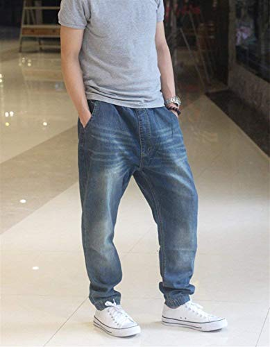 Dunkelblau Uomo Harem Pantaloni Abbigliamento Denim Larghi Sportivi Da Adelina Cavallo w6R7Azxz