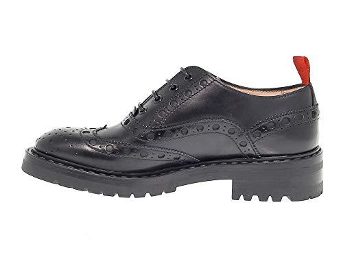 Barracuda Femme Noir Cuir Lacets Chaussures Barra1010 À Rx6gRqavw