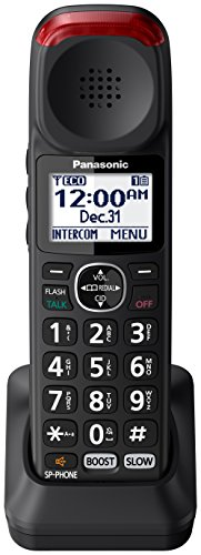 Amplified Handset - Panasonic KX-TGMA44B Amplified Additional Cordless Handset for KX-TGM430B, Black