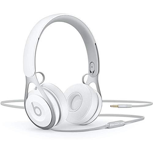 Beats Ep Wired On-Ear Headphones – Battery Free for Unlimited Listening, Built in Mic and Controls – White
