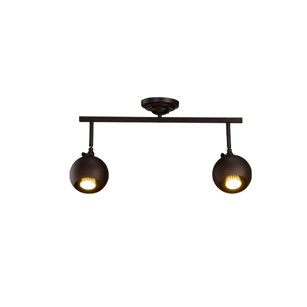 Mei Xu Track Light - Personalized Clothing Store Decorative Chandeliers Mounted Long Pole Spotlights - Black - 50cm - 2 Heads Track Lamp