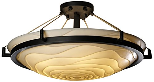 Justice Design Group Lighting PNA-9682-35-WAVE-DBRZ-LED5-5000 Porcelina-Ring 27